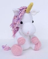 Un dulce unicornio de ganchillo. . . en colores personalizados   – Ideen