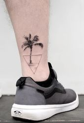 30 Palm Tree Tattoos For Summer Holiday
