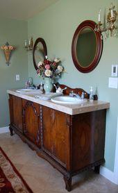 Saltbox-Schätze: Sideboard zum Waschbecken Vanity Makeover   – BATHROOM IDEAS