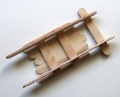 Straightforward Popsicle Stick Sled DIY Decoration with Picture