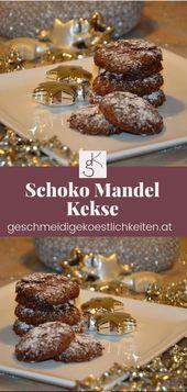 Einfache Schokoladen-Mandel-Kekse, auch gut für Dysphagie-Betroffene. #Keks… …