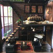 Lori Puppenhaus, Loft to Love, Puppenhaus umgestalten, modernes Puppenhaus, Scheunentor … ,…