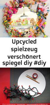 Upcycled spielzeug verschönert spiegel diy #diy #spiegel #spielzeug #upcycled #verschönert 7
