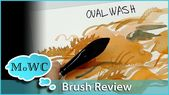 Verwenden des Oval Wash-Aquarellpinsels (Cat & # 39; s Tongue) – YouTube