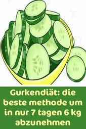 Gurkendiät: der beste Weg, um 6 kg in nur 7 Tagen zu verlieren