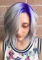 Wunderschöne Schattierungen von Lila & Silber Haarfarben im Jahr 2018 | Stylesmod