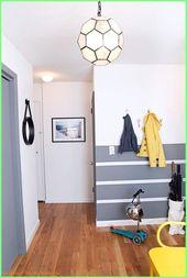 Schlafzimmer Ideen Wanddekoration – Ideen für Wandstreifen Querstreifen im Flur…