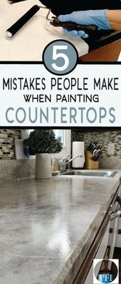 5 Errors Individuals Make when Portray Counter tops – Painted Furnishings Concepts