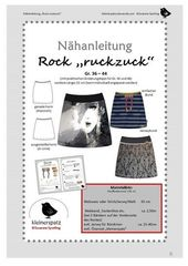 "Rock ""ruckzuck"" sewing instructions with sewing pattern – sewing instructions at Makerist"