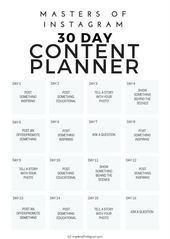 Photo of 30 day Instagram content planner – Insta