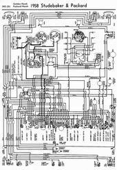 Wiring Diagrams Of 1958 Studebaker And Packard Golden Hawk And Packard Hawk Circuit Diagram Electrical Wiring Diagram Diagram