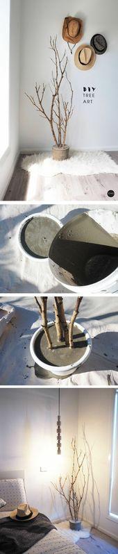 27 Kreative Dekorationsideen mit Zweigen, um die Natur in Ihr Zuhause zu bringen