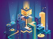 Business platform isometric vector illustration | Premium Vector #Freepik #vector #business #people #technology