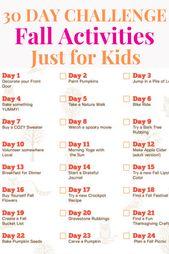 Herbstaktivitäten für Kinder – 30 Tage voller Herbstherausforderungen – Fall Activities | Mom Generations
