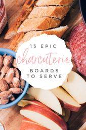 13 wunderschöne Wurstbretter, mit denen Sie mühelos eine Menschenmenge füttern können.   – Cocktail Party Ideas