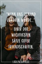 """""""Wenn uns jemand zuhören würde …"""" Einer der wichtigsten Sätze guter Freundschaften   – Rede"""