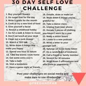 30 Day Self Love Problem