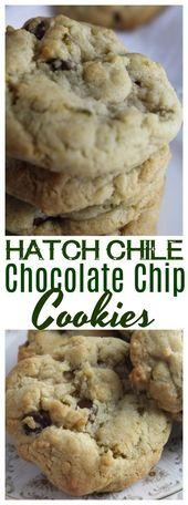 Hatch oder Anaheim Green Chiles gemischt in Schokoladenkekse für eine klassische …