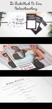 Inhaltsverzeichnis für die #Hochzeitszeitung #ideen #Ideenfürdiehochzeit