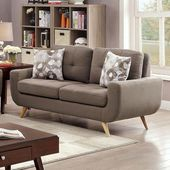 Livvy Collection CM6800-LV 68″ Love Seat with Tapered Legs  Tufting and U-Shaped Base in   – Products