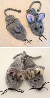 Mouse Mittens – Free Pattern