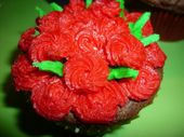 Rosette Cupcake made of triple chocolate cake with homemade buttercream