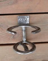 Drink Holders made from used horseshoes, clean and painted