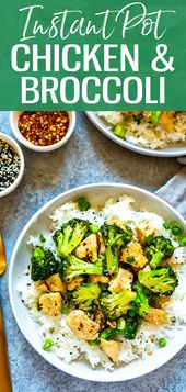 This Instant Pot Chinese Chicken and Broccoli is a healthy one pot stir fry reci…