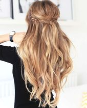 15 So pretty hairstyles for long hair: Dirndl hairstyles half open 2018 #dirndl #frisuren # hairstyle2019 #open # pretty