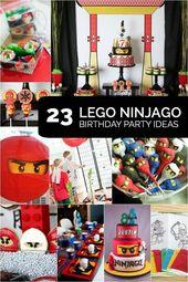 23 der besten Ninjago-Party-Ideen   – Ninjago Geburtstag