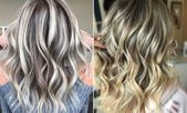 23 ways to brindle brown hair with blond highlights – # acrylic nails #beautynails #blonde #brown #fashionn