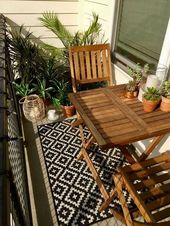 50 Popular Apartment Balcony Design for Small Spac…