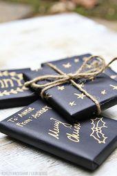 liebe das schwarze Geschenkpapier. passt zu allem und zu jedem Anlass.