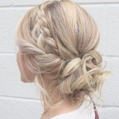33 Gorgeous Updo Braided Hairstyles for Any Occasion; Prom/hoco hair; Wedding updo hairstyles; Braid styles for long or medium length hair; Easy hairs...