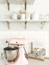 Love the white and pastels for a kitchen!