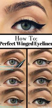 10 einfache, schrittweise Anleitungen für Eyeliner für Anfänger #Anfänger #Anleitungen #ein…