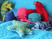 Crochet Sea Creatures, As a souvenir for family trip. Sea Horse, Whale, Octopus,…