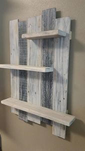 Handcrafted rustic rain decor in reused, white wood. Old wood …