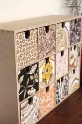 Vintage-Möbel mit Tapete gestalten …
