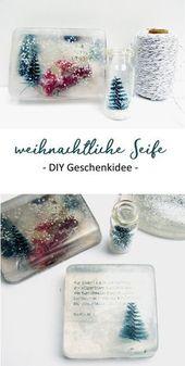 Weihnachtliche Seife selber machen