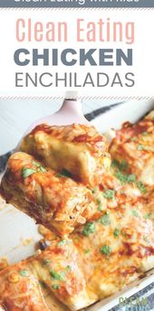 My kids go crazy for these!! Healthy chicken enchiladas with black beans and cor…