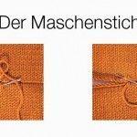 Stricktipp: Maschenstich – #deutschestrickmuster #Maschenstich #Stricktipp