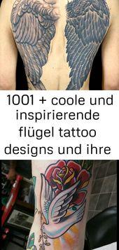 ▷ 1001 + coole und inspirierende Wings Tattoo Designs und deren Designs 15 – Tattoos