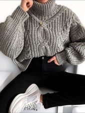 Daily Wild Color High Collar Loose Sweater – stylealice