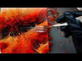 Abstract Painting – Fiery swirl – YouTube   – Malen, zeichnen, Farben , Technik