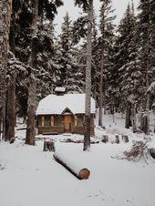 20 jolies photos de chalets couverts de neige qui donnent le goût d'y passer la fin de semaine
