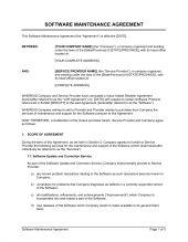 Software Maintenance Agreement   Template U0026 Sample Form Biztree.com    Software Support Agreement Template | Legal Software | Pinterest | Software Nice Design