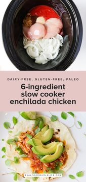 6-Ingredient Slow Cooker Enchilada Chicken