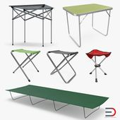 Tenting Desk and Chairs Assortment 3D Mannequin #AD ,#Desk#Tenting#Chairs#Mannequin