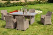 Gartenmöbel-Set »Kuba«, 13 Teile, 6 Sessel, Tisch 180×90 cm, Kunststoffgitter   – Products